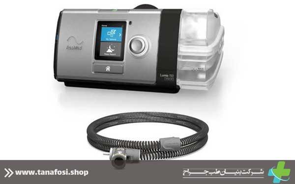 Bipap Lumis 150 مجهز به IntelligentAir است ، مجموعه ای از فناوری های پیشرفته ResMed که می تواند درمان را متناسب با نیازهای تنفسی فردی تنظیم کند.